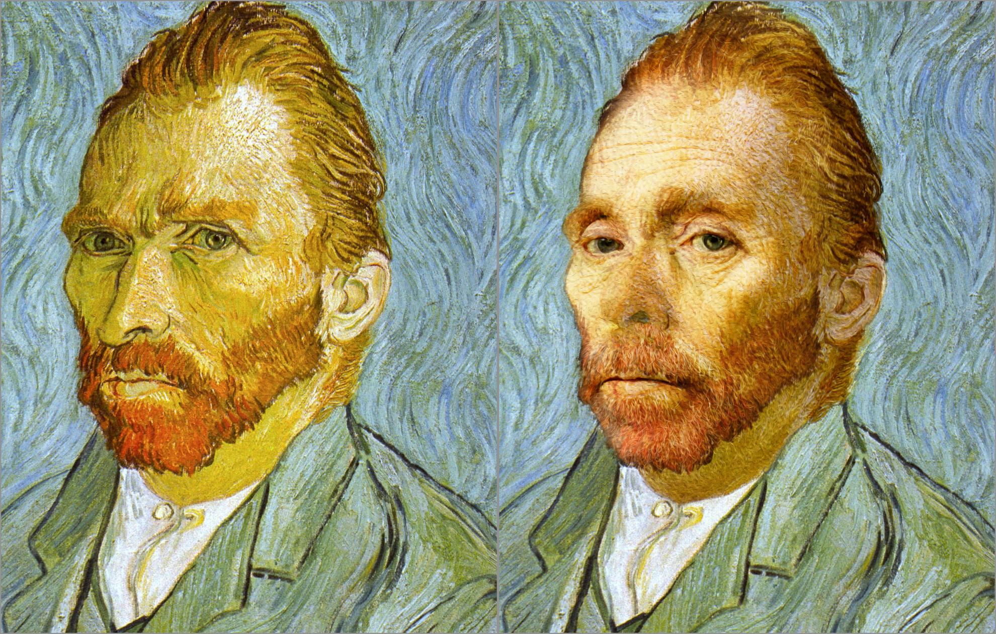 Van Gogh, self portrait, 1889, Chris Golson-