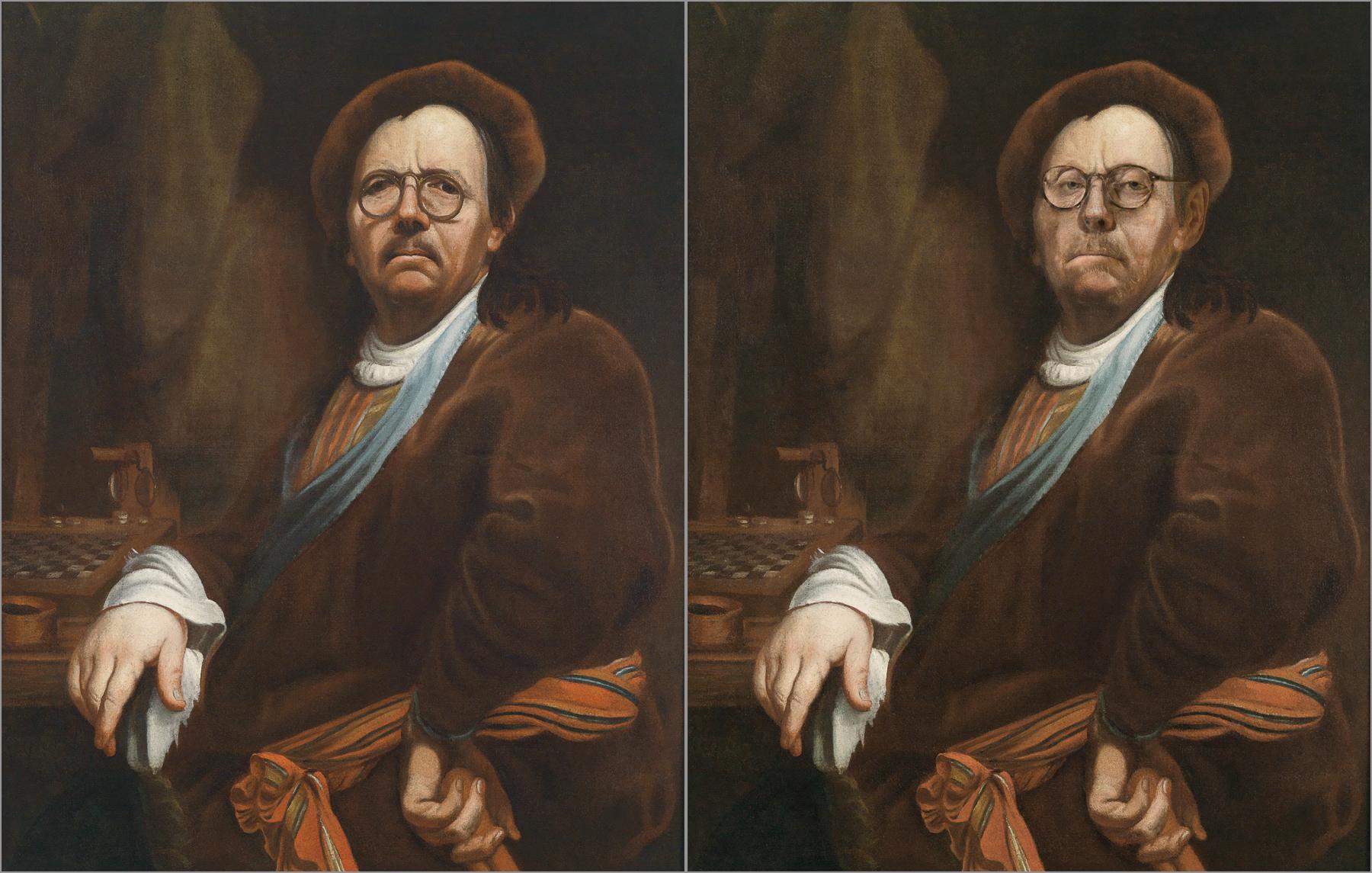 Johann Kupetzky, Self Portrait, Chris Golson.