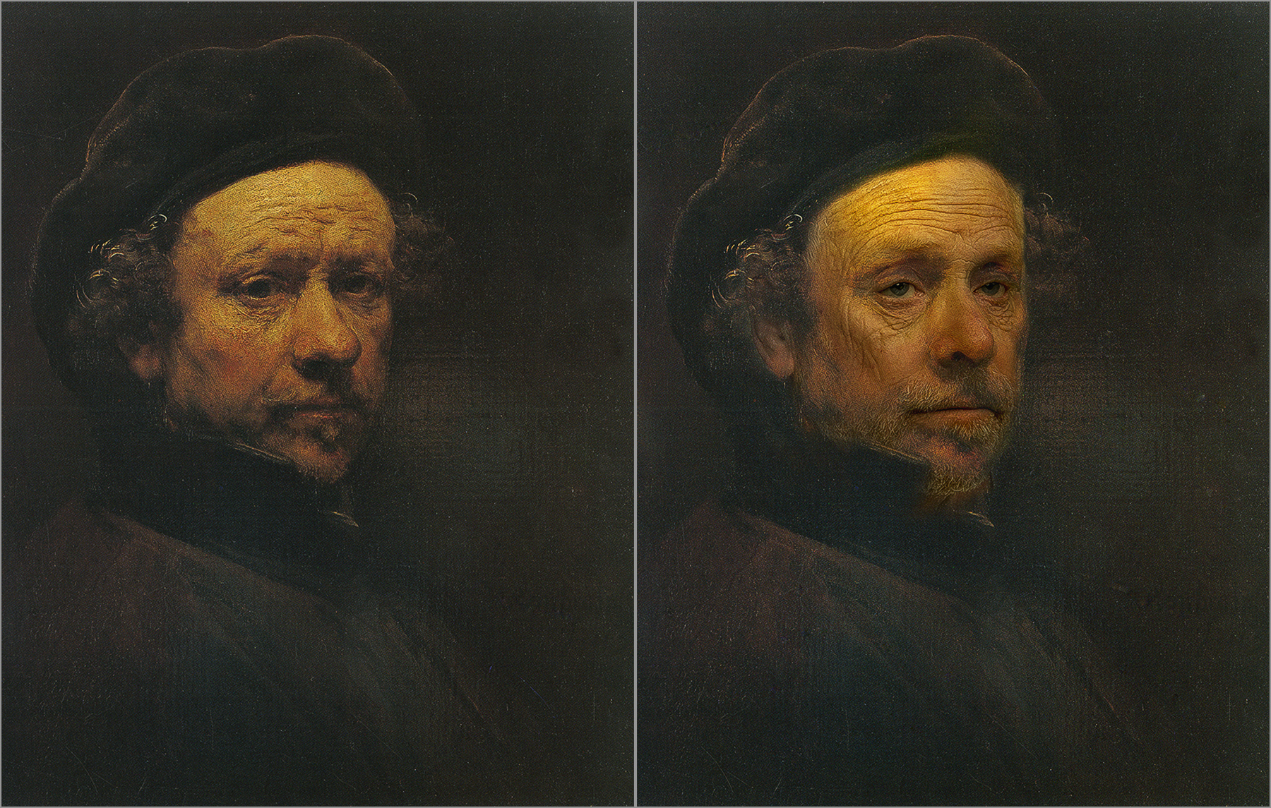 Rembrandt van Rijn, Self Portrait 1658 Chris Golson.