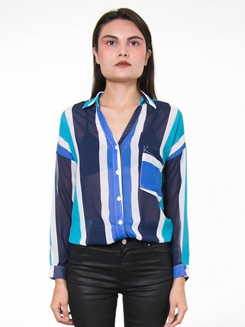 Blusa Resorte Azul