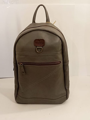 BACKPACK CIERRE TABIQUE GRIS