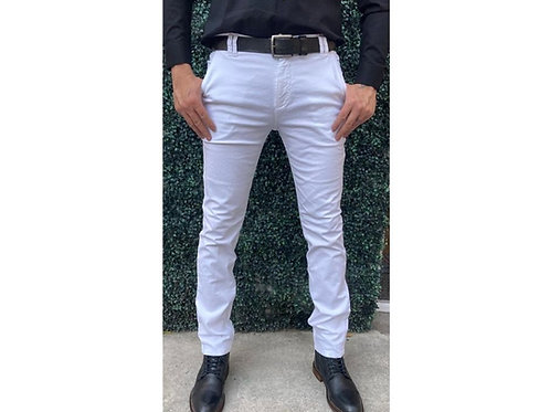 PANTALÓN CABALLERO SLIM FIT FASHION LOVERS. Color: Blanco