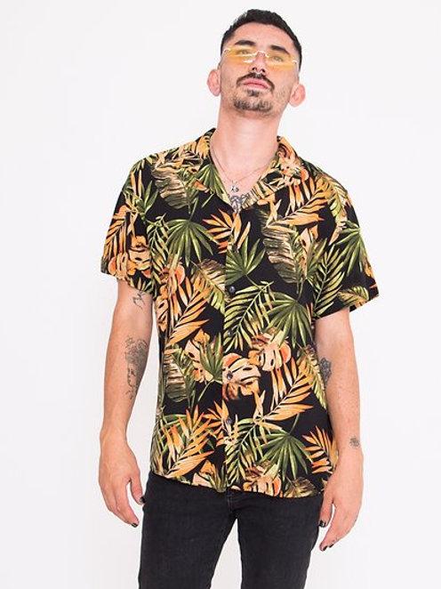 Camisa Hojas Tropical