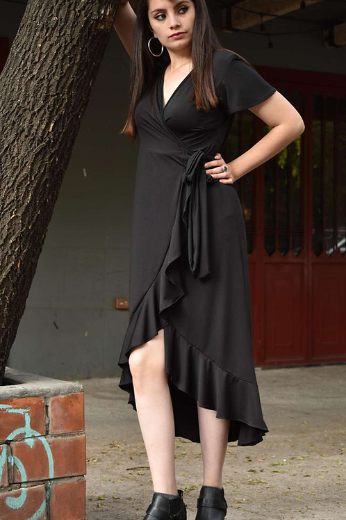 WRAP DRESS  Color: Negro