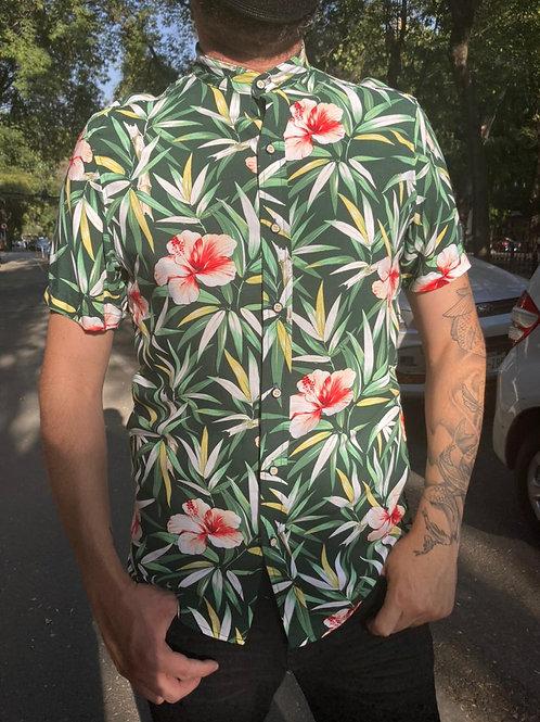 Camisa Caballero Flores Rosas