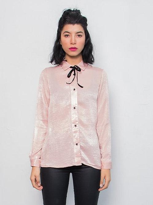 Camisa Moño Rosa