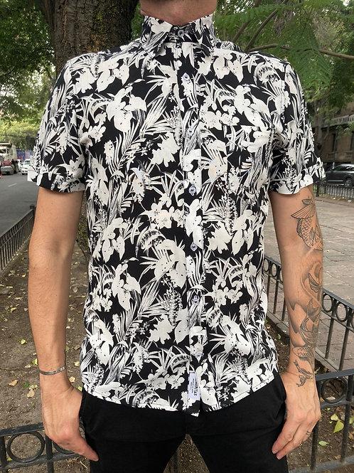 Camisa Caballero Negro plantas