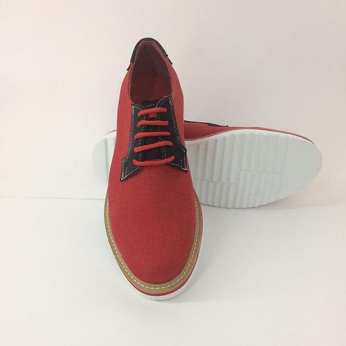 Calzado Casual Lino Rojo