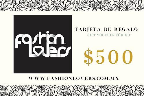 TARJETA DE REGALO $500