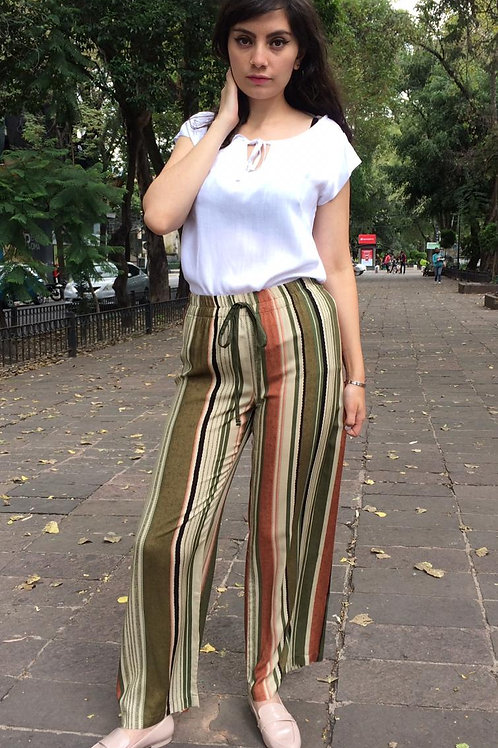 PANTALON FASHION LOVERS LINEAS OLIVA