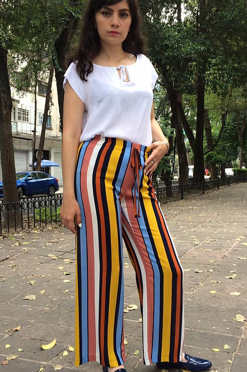 PANTALON FASHION LOVERS LINEAS AMARILLO