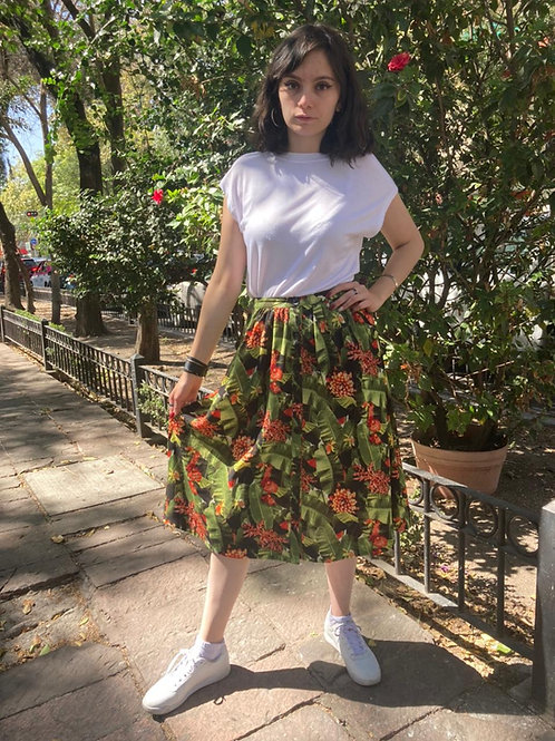 Falda larga tropical