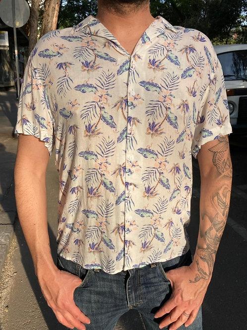 Camisa Caballero Palmeras Pastel