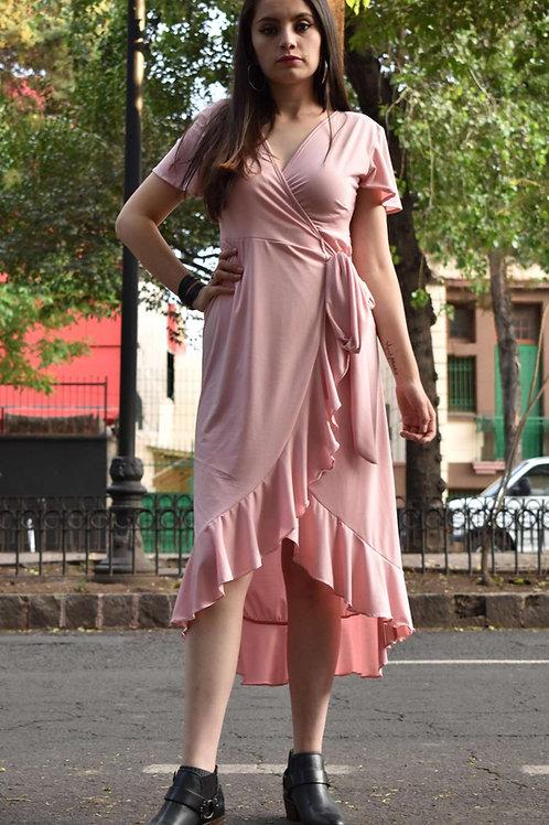 WRAP DRESS Color: Rosa