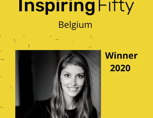 Elegnano founder Katrien Herdewyn named in Inspiring Fifty Belgium