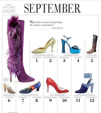 Start the new year in style: Elegnano in 2020 International Shoe Calendar!