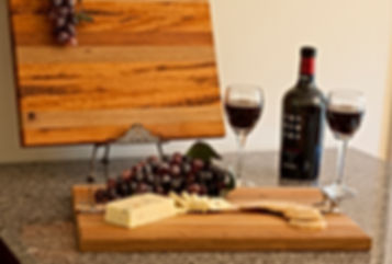 hard maple cutting board with handles