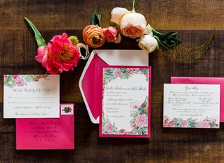 Pretty in (Hot) Pink Wedding