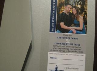 Cowboys Ticket as Wedding Invitation