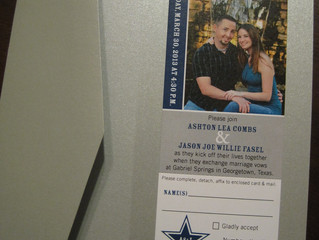 Cowboys Ticket as Wedding Invitation