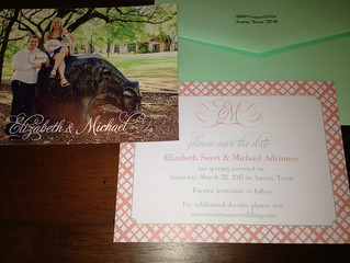 Modern Mint and Coral Wedding Invitation