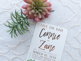 Cactus and Succulent Wedding Invitation