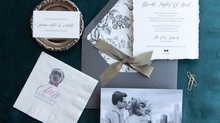 Moody wedding invitation suite