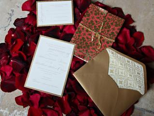 Luxe wedding invitations