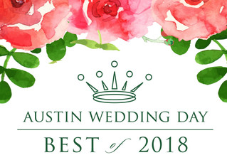 Austin Wedding Day Magazine Award Nomination