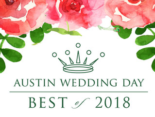 Austin Wedding Day Magazine Award Nomination