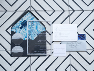 Modern Acrylic Invitation