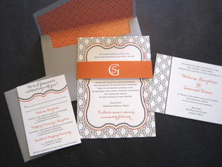 A Lovely Purple & Orange Wedding
