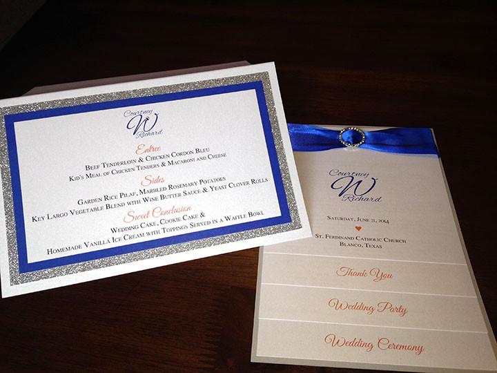 The Inviting Pear program and menu.JPG