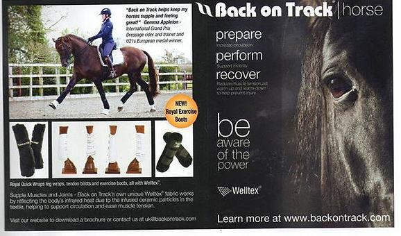 gemma appleton back on track sponsorship sponsored rider