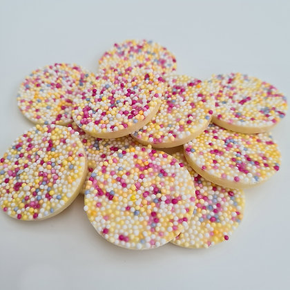 White Chocolate Flavour Disco Disks x10