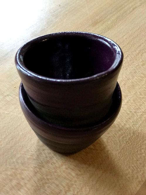 Plum sake cup