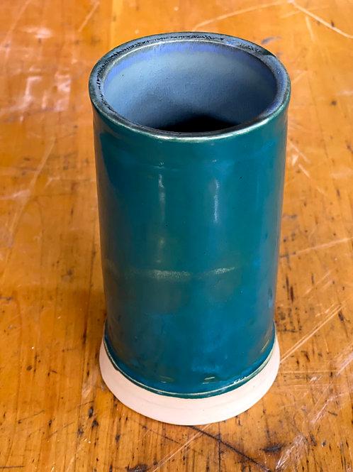 Teal and ice blue | medium vase