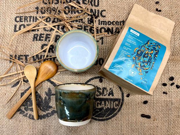 Moss green coffee kit