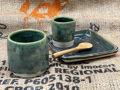 Tea set | moss green
