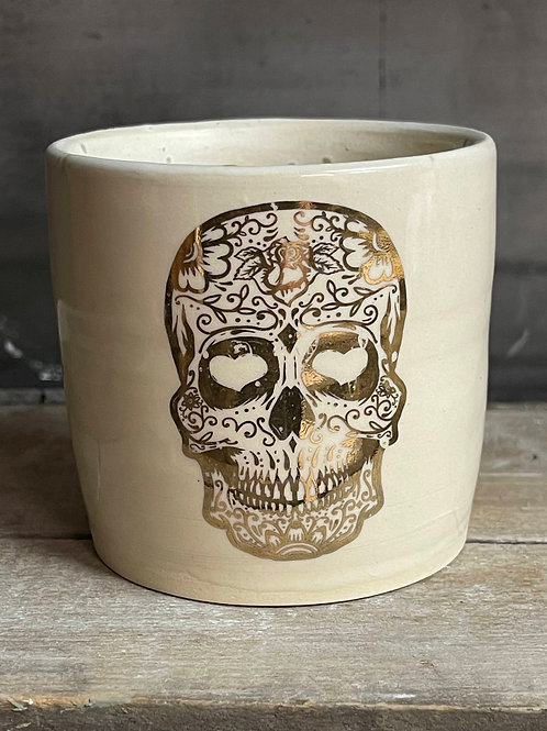 Gold skull tumbler   limited edition