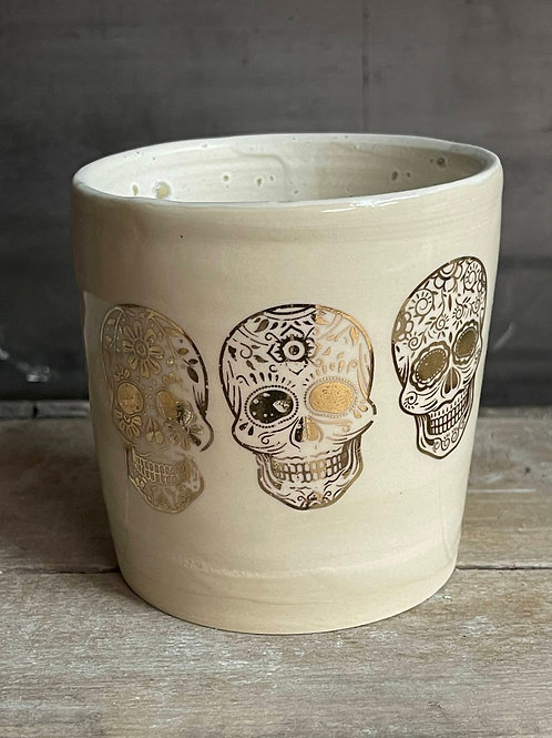 Gold skull tumbler | limited edition
