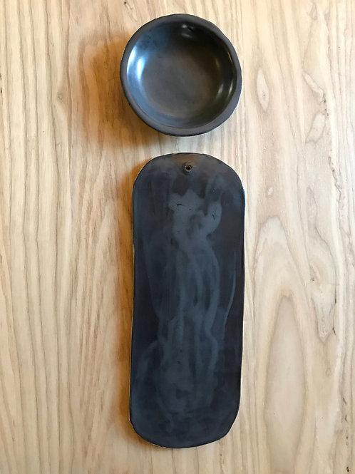 Steel skateboard cheese plate