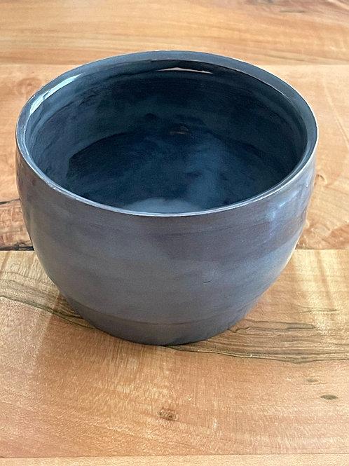 Steel gray shino   plant pot