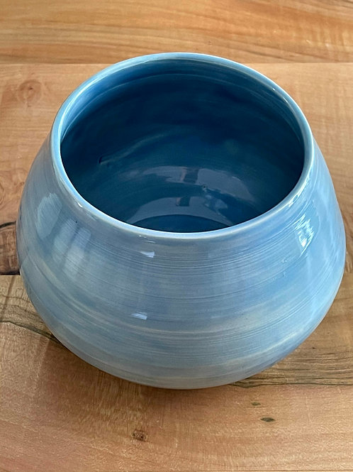 Glassy blue celedon | vase