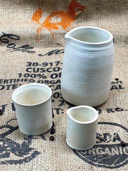 Alabaster set | pitcher and creamer set