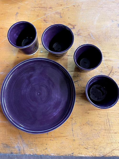 Plum   cup set