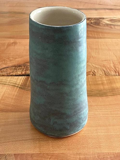 Oxidized copper green | vase