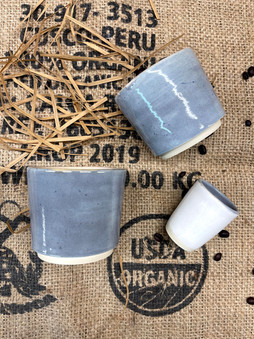 Soft gray coffee service