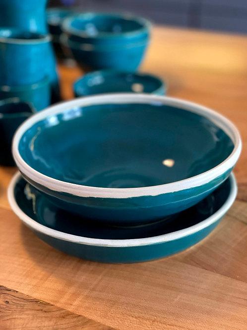 Teal | server bowl