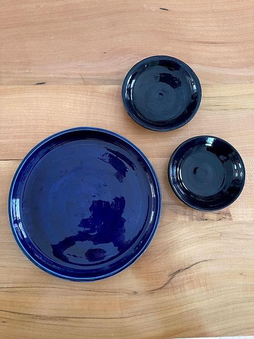 Sapphire serving   3 piece set